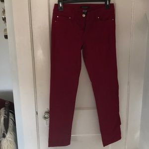 White House Black Market Red Jeans